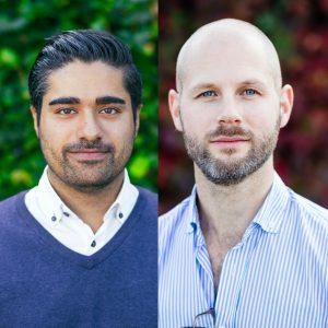 Masoud Zanganeh och Joakim Herlin på Oatly